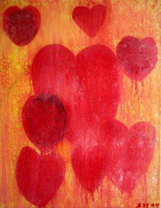 Hjertesorg, Eventyr af H.C. Andersen | 2004 | 80 x 60 cm, akryl uden ramme | 1250 kr.