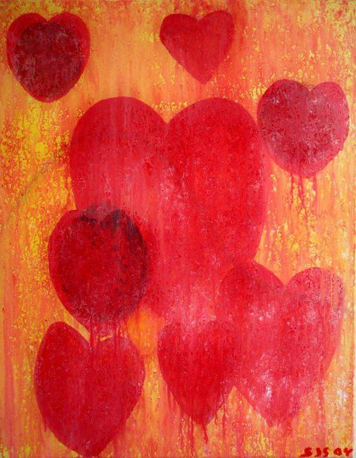 Hjertesorg, Eventyr af H.C. Andersen   2004   80 x 60 cm, akryl uden ramme   1250 kr.