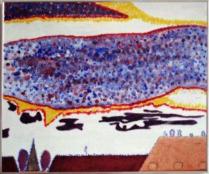 Udsigten, Frederiksberg | 2004 | 45 x 55 cm, akryl | 2250 kr.