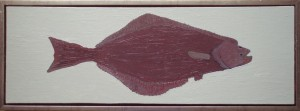 Helleflynder (Hallibut) Alaska, 2016, 30 x 90 cm. olie, 1800 kr.