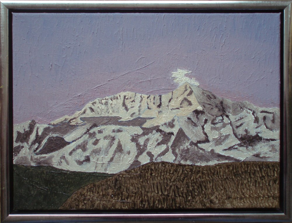 Mount st. Elias, Alaska, 2016, 30 x 40 cm. olie, 2000 kr.