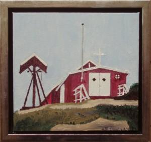 Aappilatoq, kirke   2014   20 x 20 cm, olie   1500 kr.