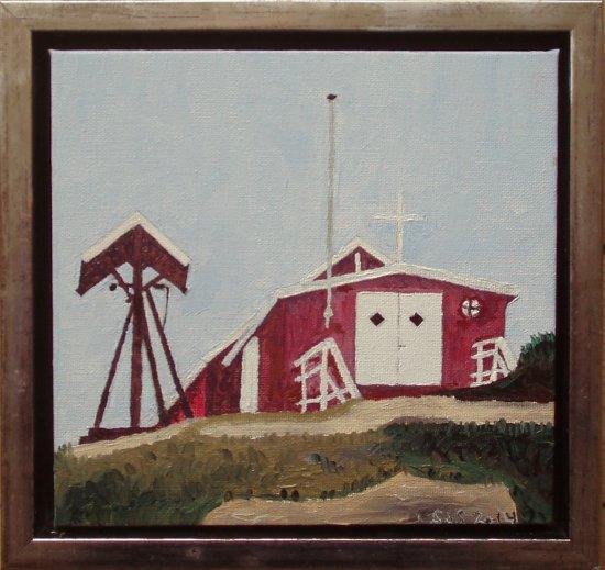 Aappilatoq, kirke | 2014 | 20 x 20 cm, olie | 1500 kr.
