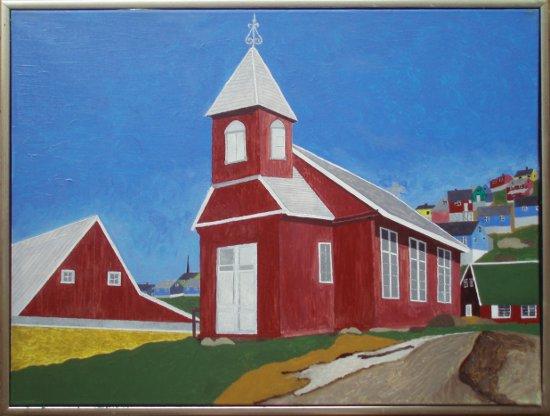 Upernavik gl. kirke | 2014 | 60 x 80 cm, olie på akryl | 4500 kr.