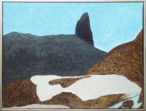 Djævelens tommelfinger, Kullorsuaq | 2014 | 60 x 80 cm, olie | 3500 kr.