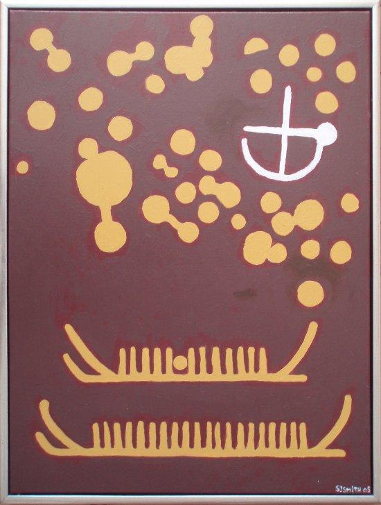 Grevinge-stenen | 2005 | 80 x 60 cm, akryl | 3000 kr.