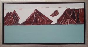 Herbert Ø, Nordvestgrønland | 2013 | 20 x 40 cm, olie | 1500 kr.