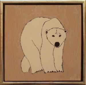 Isbjørn | 2013 | 30 x 30 cm, olie | 1500 kr.
