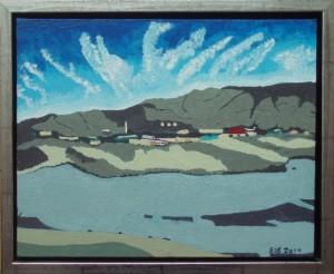 Parti fra Kangerlussuaq | 2014 | 24 x 30 cm, olie og akryl | 1850 kr.