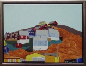 Parti fra Upernavik | 2014 | 30 x 40 cm, olie og akryl | 2500 kr.