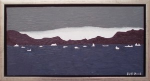 Parti fra Vestgrønland   2013   20 x 40 cm, olie   1500 kr.