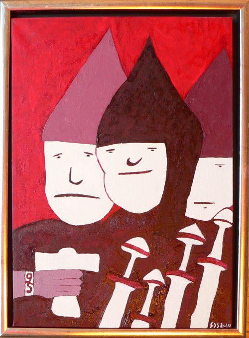 Vikinger | 2010 | olie, 40 x 30 cm | 3500 kr.