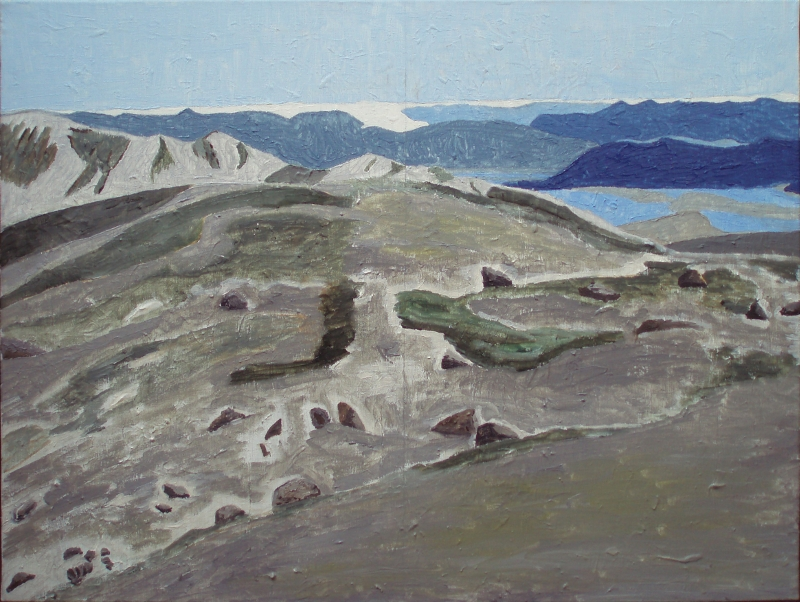 Parti fra Kangerlussuaq | 2014 | 60 x 80 cm, olie | 3500 kr.