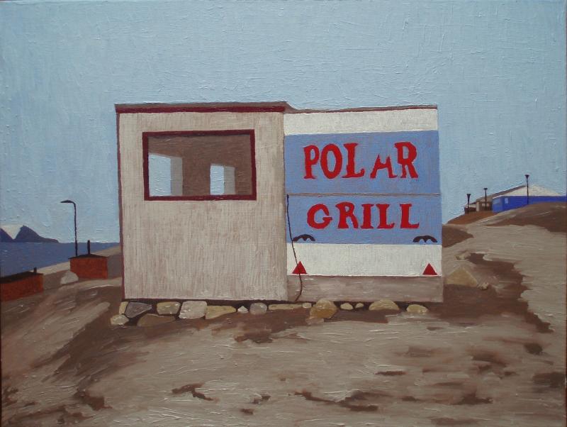 Polar grill, Qaanaaq (Thule)   2015   60 x 80 cm, olie   3500 kr.