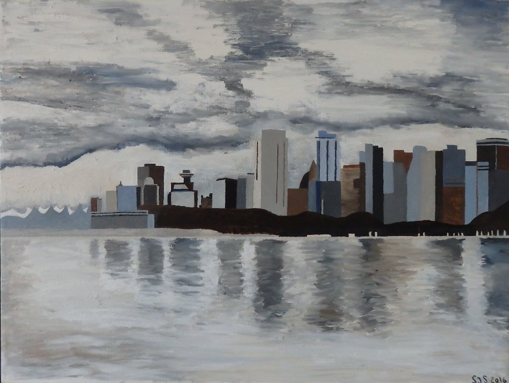 Vancouver, Canada, 2016, 60 x 80 cm, olie, 3500 kr.