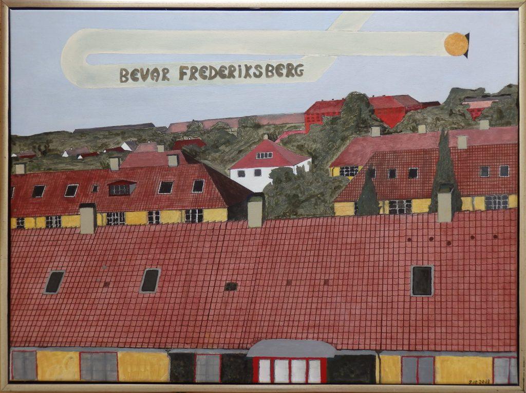 Bevar Frederiksberg, 2018, 60 x 80 cm, olie på lærred, Pris: 4000 kr.